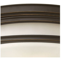 Hinkley 3304OZ Hadley 4 Light 20 inch Oil Rubbed Bronze Foyer Flush Mount Ceiling Light in Incandescent, Etched Opal Glass alternative photo thumbnail