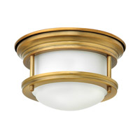 Hinkley 3308BR-QF Hadley LED 8 inch Brushed Bronze Foyer Flush Mount Ceiling Light in Damp Rated Etched Opal Glass