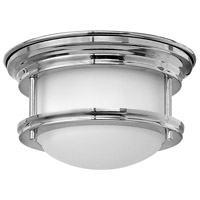 Hinkley 3308CM Hadley 1 Light 8 inch Chrome Flush Mount Ceiling Light, Etched Opal Glass