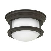 Hinkley 3308OZ-QF Hadley LED 8 inch Oil Rubbed Bronze Foyer Flush Mount Ceiling Light in Damp Rated, Etched Opal Glass