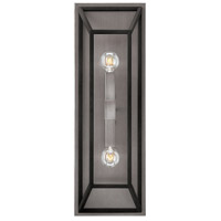 Hinkley Lighting Fulton 2 Light Sconce in Aged Zinc 3330DZ