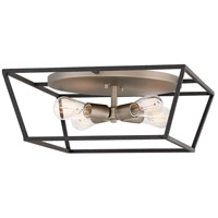 Hinkley 3331DZ Fulton 4 Light 18 inch Aged Zinc Flush Mount Ceiling Light