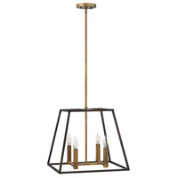 Hinkley 3334BZ Fulton 4 Light 18 inch Bronze/Heirloom Brass Foyer Light Ceiling Light