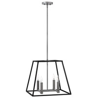 Hinkley 3334DZ Fulton 4 Light 18 inch Aged Zinc Foyer Pendant Ceiling Light