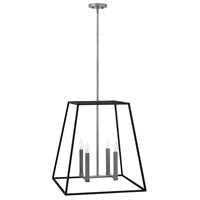 Fulton 4 Light 22 inch Aged Zinc Foyer Pendant Ceiling Light