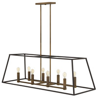 Fulton 8 Light 48 inch Bronze Linear Foyer Ceiling Light