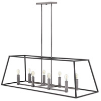Fulton 8 Light 48 inch Aged Zinc Linear Foyer Ceiling Light
