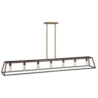 Fulton 7 Light 65 inch Bronze Linear Chandelier Ceiling Light