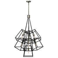 Hinkley Lighting Fulton 7 Light Pendant in Aged Zinc 3357DZ
