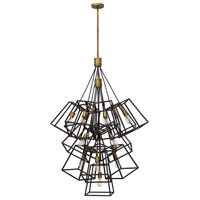 Hinkley 3358BZ Fulton 13 Light 34 inch Bronze Pendant Ceiling Light