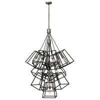 Hinkley 3358DZ Fulton 13 Light 34 inch Aged Zinc Foyer Light Ceiling Light