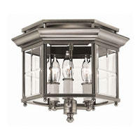 Hinkley Signature Semi Flush 3Lt Foyer in Pewter 3362PW photo thumbnail