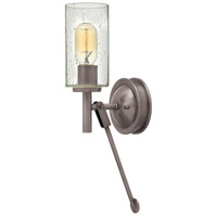 Hinkley 3380AN Collier 1 Light 5 inch Antique Nickel Sconce Wall Light