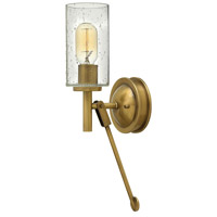 Hinkley 3380HB Collier 1 Light 5 inch Heritage Brass Sconce Wall Light, Clear Seedy Glass