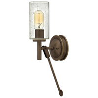 Hinkley 3380LZ Collier 1 Light 5 inch Light Oiled Bronze Sconce Wall Light