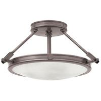 Hinkley 3381AN-LED Collier LED 17 inch Antique Nickel Foyer Semi-Flush Mount Ceiling Light