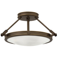 Hinkley 3381LZ Collier 3 Light 17 inch Light Oiled Bronze Foyer Semi-Flush Mount Ceiling Light in Incandescent