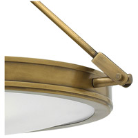 Hinkley 3381HB Collier 3 Light 17 inch Heritage Brass Foyer Semi-Flush Mount Ceiling Light in Incandescent, Etched Opal Glass alternative photo thumbnail