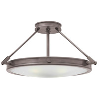 Collier LED 22 inch Antique Nickel Foyer Semi-Flush Mount Ceiling Light
