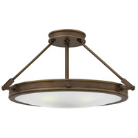 Hinkley 3382LZ Collier 4 Light 22 inch Light Oiled Bronze Foyer Semi-Flush Mount Ceiling Light