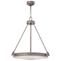 Hinkley 3384AN Collier 4 Light 22 inch Antique Nickel Inverted Pendant Ceiling Light photo thumbnail