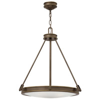 Hinkley 3384LZ Collier 4 Light 22 inch Light Oiled Bronze Inverted Pendant Ceiling Light