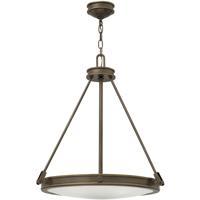 Hinkley 3384LZ Collier 4 Light 22 inch Light Oiled Bronze Inverted Pendant Ceiling Light
