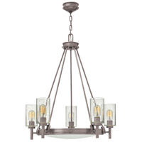 Hinkley 3385AN Collier 5 Light 27 inch Antique Nickel Foyer Chandelier Ceiling Light