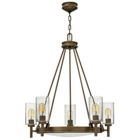 Collier 5 Light 27 inch Light Oiled Bronze Foyer Chandelier Ceiling Light