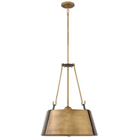 Cartwright 3 Light 20 inch Rustic Brass Pendant Ceiling Light