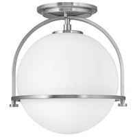 Hinkley 3403BN Somerset 1 Light 12 inch Brushed Nickel Semi-Flush Mount Ceiling Light