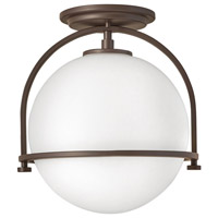 Hinkley 3403KZ Somerset 1 Light 12 inch Buckeye Bronze Semi-Flush Mount Ceiling Light