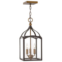 Hinkley 3413BZ Clarendon 3 Light 8 inch Bronze Hanging Foyer Ceiling Light