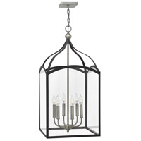 Hinkley 3414DZ Clarendon 6 Light 16 inch Aged Zinc Pendant Ceiling Light, Clear Glass