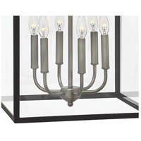 Hinkley 3414DZ Clarendon 6 Light 16 inch Aged Zinc Foyer Light Ceiling Light, Clear Glass alternative photo thumbnail