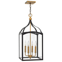 Hinkley 3415BZ Clarendon 4 Light 12 inch Bronze/Heirloom Brass Chandelier Ceiling Light Clear Glass