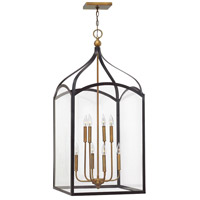 Hinkley 3418BZ Clarendon 8 Light 20 inch Bronze Foyer Light Ceiling Light, Clear Glass