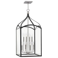 Hinkley 3418DZ Clarendon 8 Light 20 inch Aged Zinc Chandelier Ceiling Light, Clear Glass