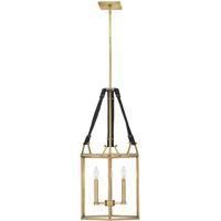 Hinkley 34204HBR Lisa McDennon Monroe 3 Light 16 inch Heritage Brass Chandelier Ceiling Light