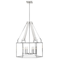 Hinkley 34206PNI Monroe 6 Light 26 inch Polished Nickel Chandelier Ceiling Light