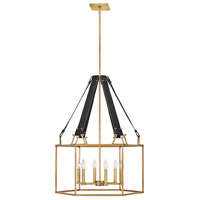 Hinkley 34206HBR Lisa McDennon Monroe 6 Light 26 inch Heritage Brass Chandelier Ceiling Light