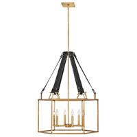 Hinkley 34206HBR Lisa McDennon Monroe 6 Light 26 inch Heritage Brass Chandelier Ceiling Light