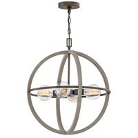 Hinkley 3424DC Bodie 4 Light 20 inch Dark Cement with Bronze Accents Chandelier Ceiling Light