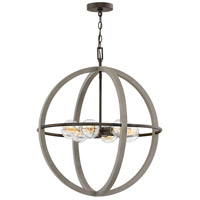 Hinkley 3426DC Bodie 6 Light 25 inch Dark Cement with Bronze Accents Chandelier Ceiling Light