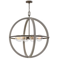 Hinkley 3428DC Bodie 8 Light 32 inch Dark Cement with Bronze Accents Chandelier Ceiling Light