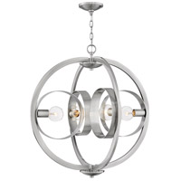 Hinkley 3434BN Orson 4 Light 26 inch Brushed Nickel Foyer Chandelier Ceiling Light, Single Tier