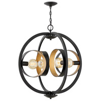 Hinkley 3434SK Orson 1 Light 26 inch Satin Black Foyer Chandelier Ceiling Light Single Tier