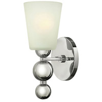 Hinkley 3440PN Zelda 1 Light 6 inch Polished Nickel Sconce Wall Light, Etched Glass