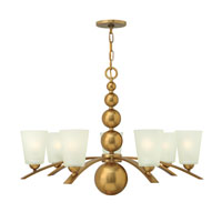 Hinkley Lighting Zelda 7 Light Chandelier in Vintage Brass 3446VS photo thumbnail