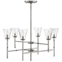 Hinkley 3456PL Arden 6 Light 32 inch Polished Antique Nickel Chandelier Ceiling Light, Two Tier